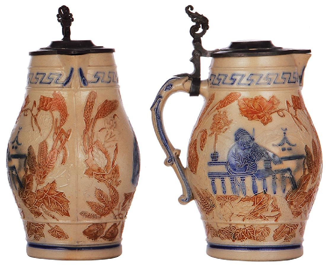 Two stoneware steins Whites, Utica - 3