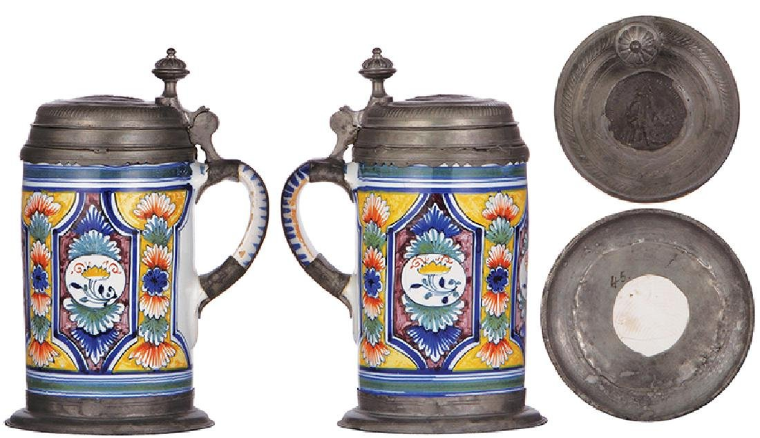 Two faience steins - 3