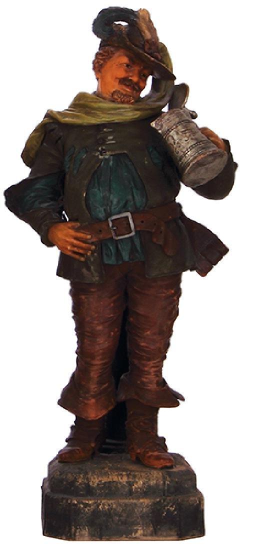 Terra cotta figurine, Landsknecht