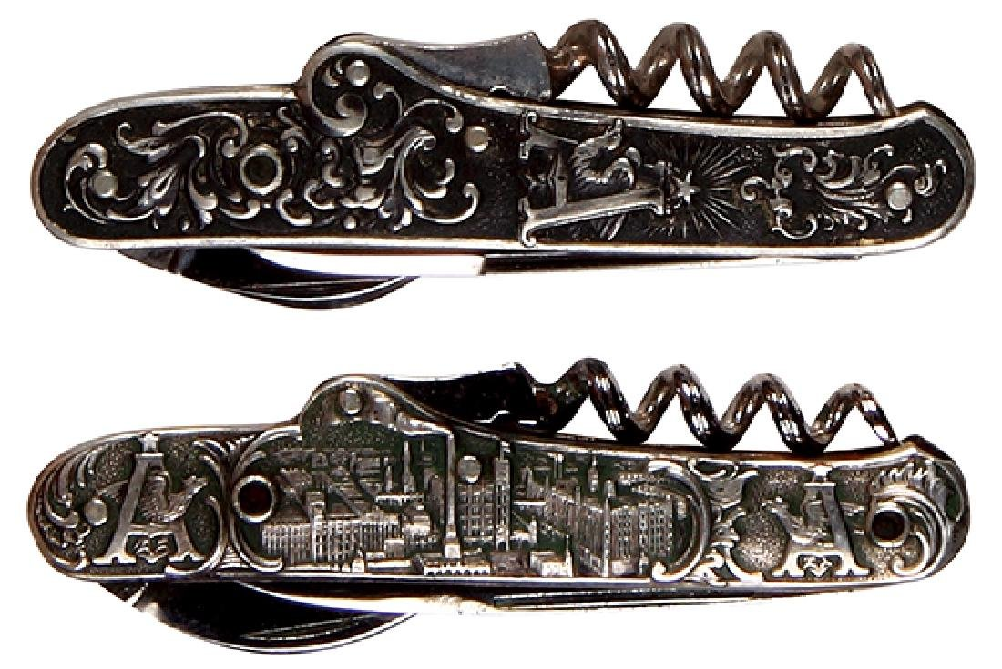 Two Anheuser-Busch embossed pocket knives - 2