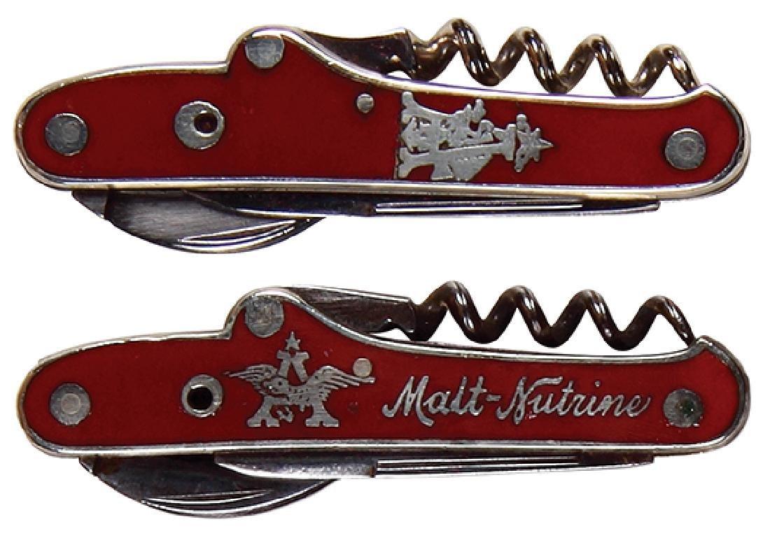 Two Anheuser-Busch enameled pocket knives - 2