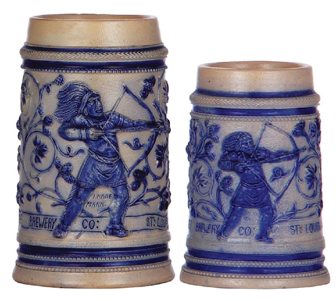 Two stoneware mugsCherokee Brewery