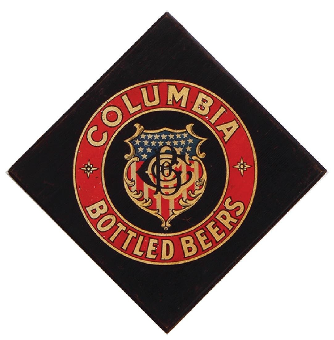 Columbia Bottled Beers lithograph