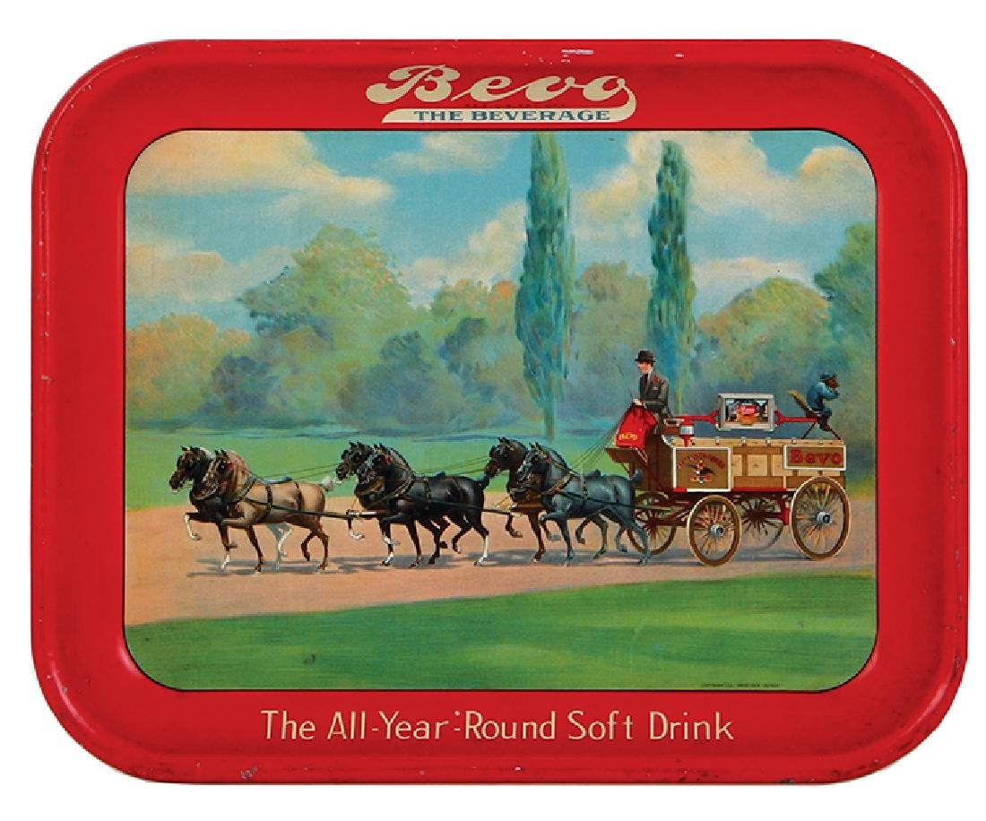 Bevo advertising tray