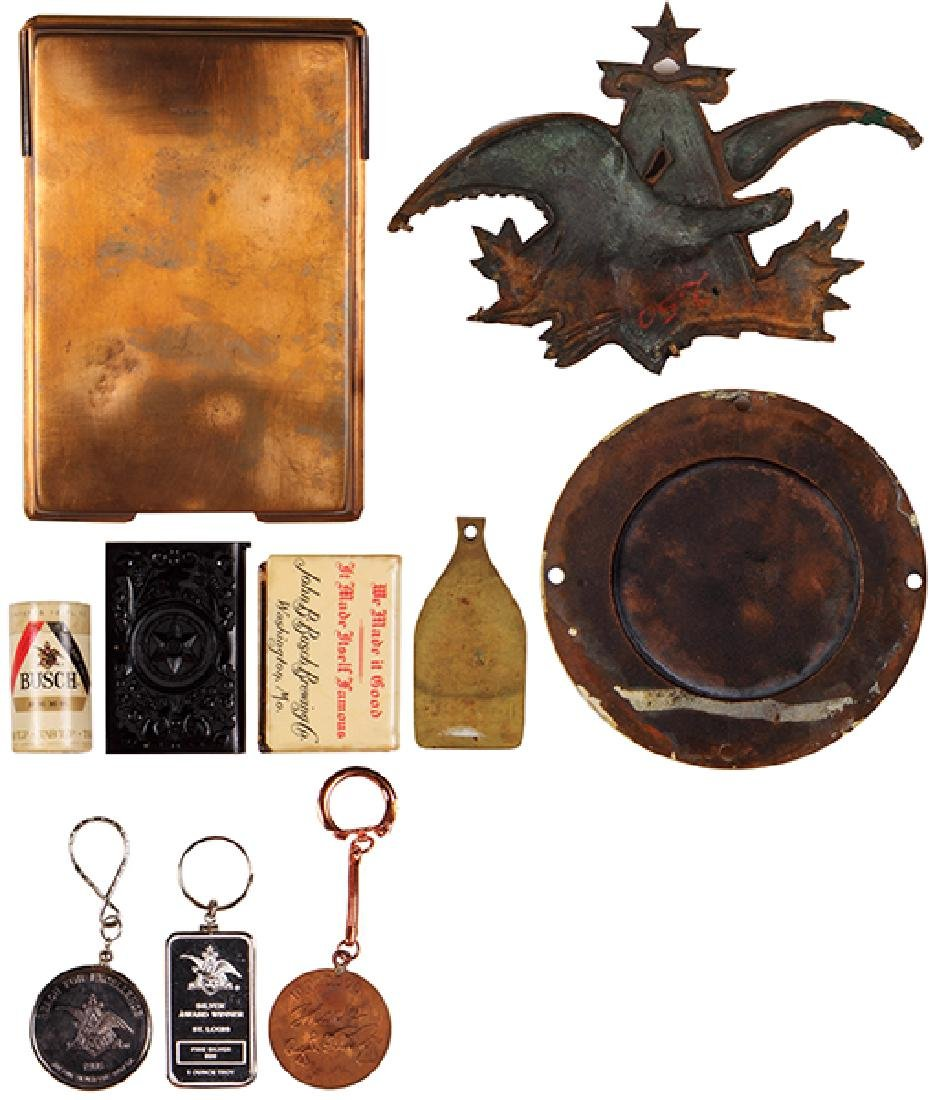 Ten Anheuser-Busch items - 2