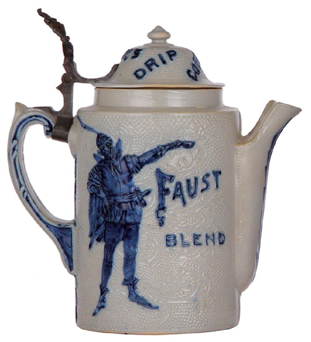 Stoneware coffee pot, Faust Blend