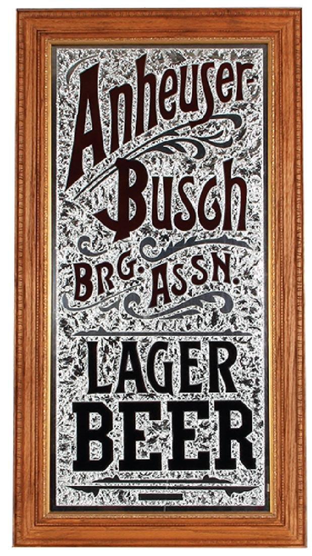 Anheuser-Busch Lager Beer mirror