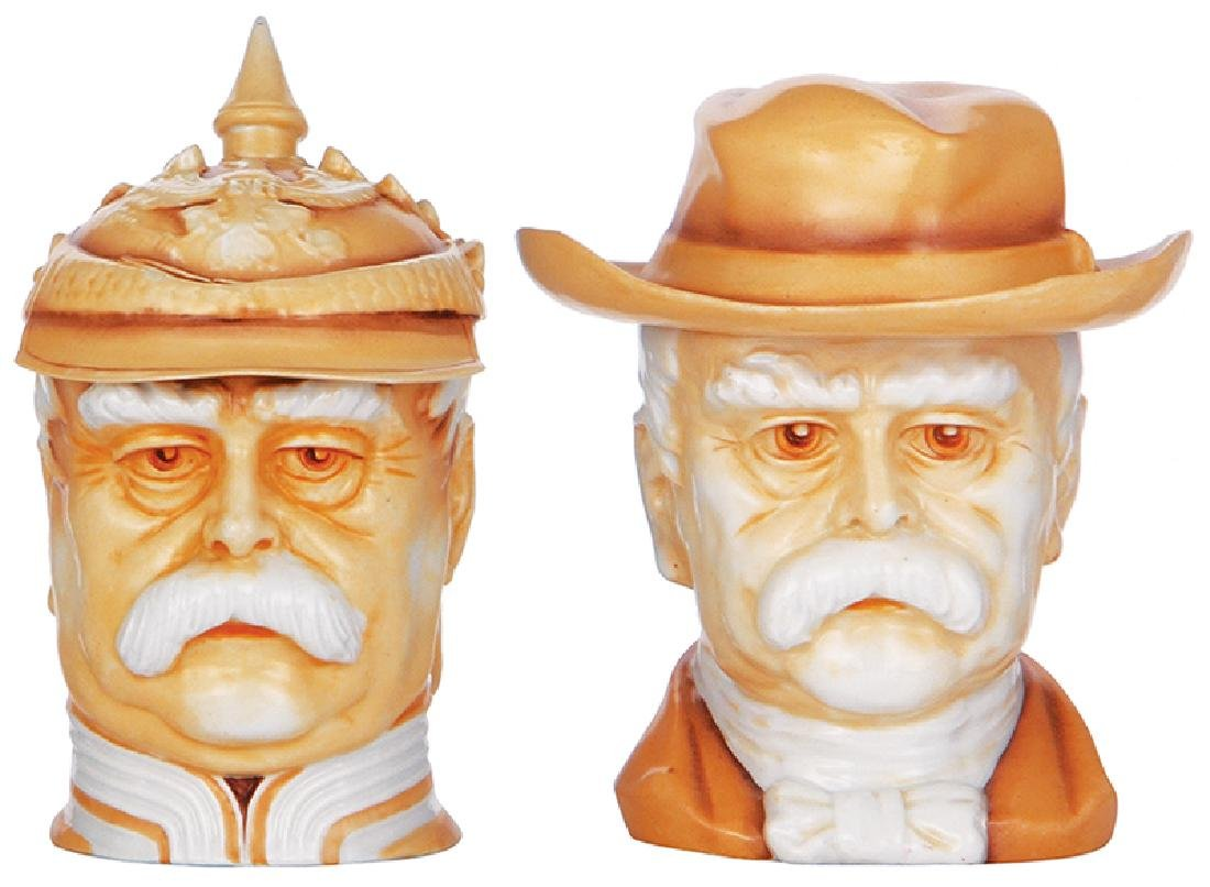 Two Character steins, Bismarck