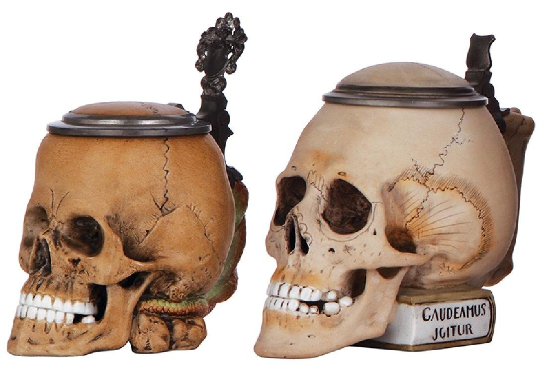 Two Character steins, Skulls