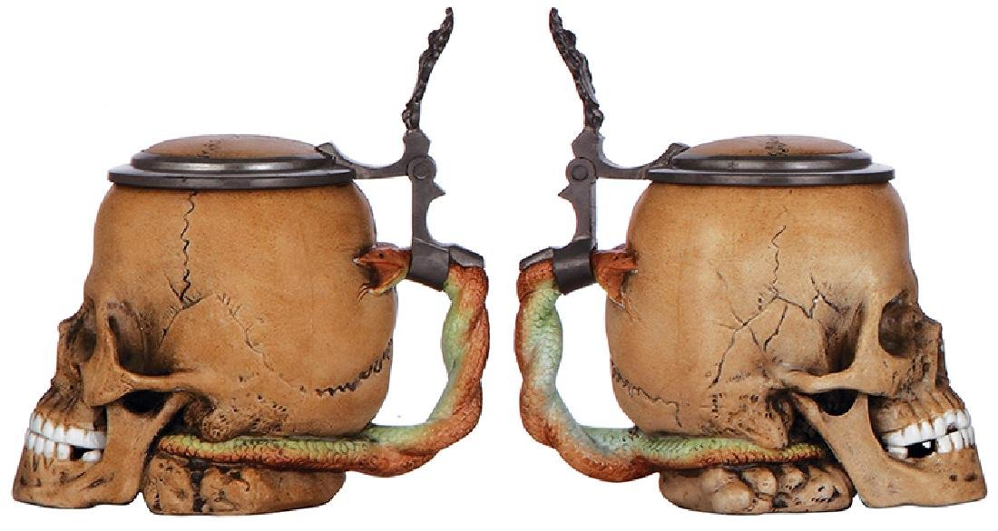 Two Character steins, Skulls - 2