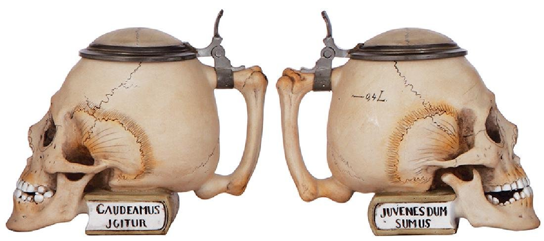 Two Character steins, Skulls - 3