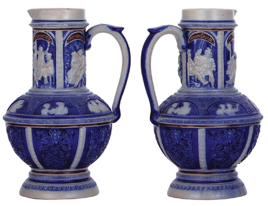 Two stoneware steins - 2