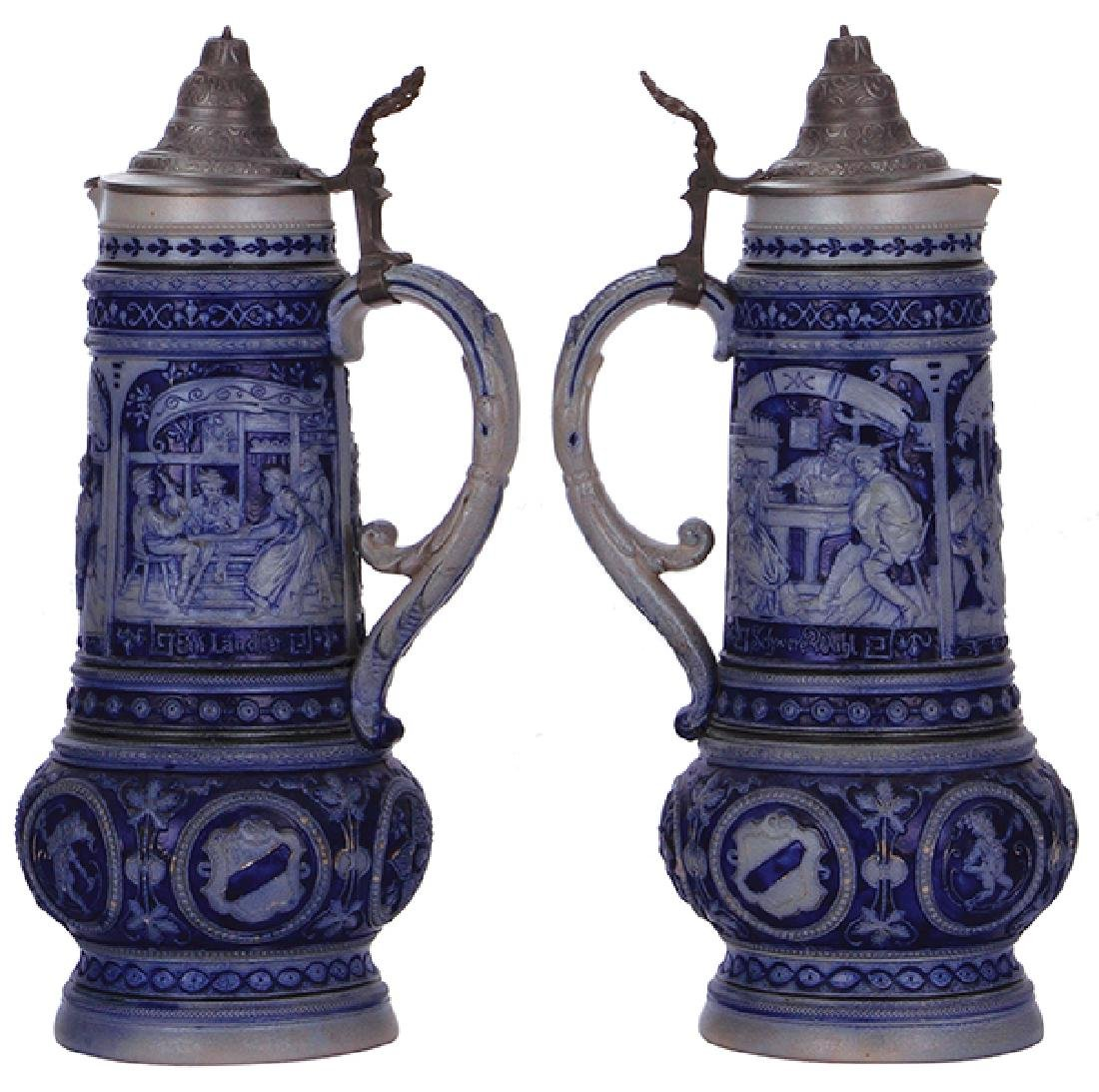 Two stoneware steins - 3