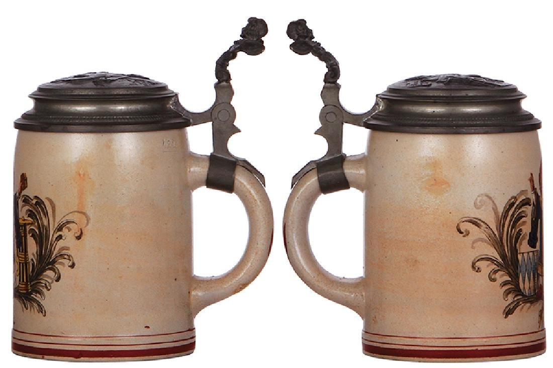 Two stoneware steins - 2