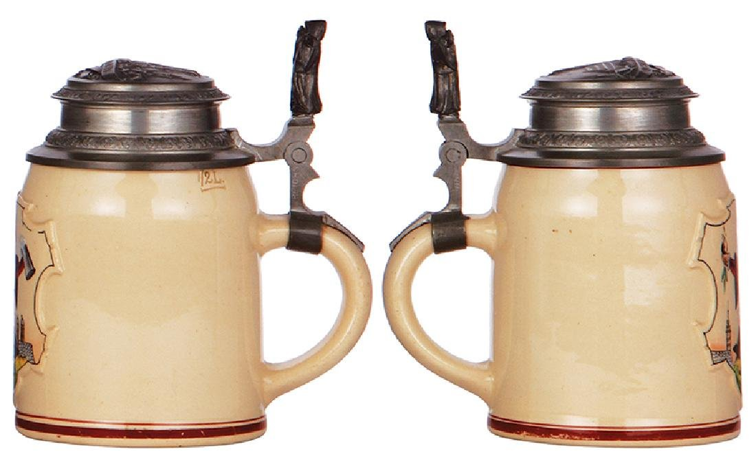 Two pottery steins - 4