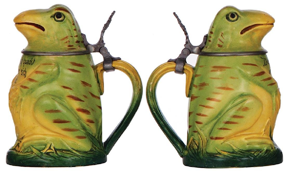 Two Character steins, Frog & Gnome - 2