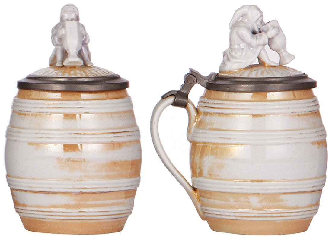 Two Character steins, Frog & Gnome - 3