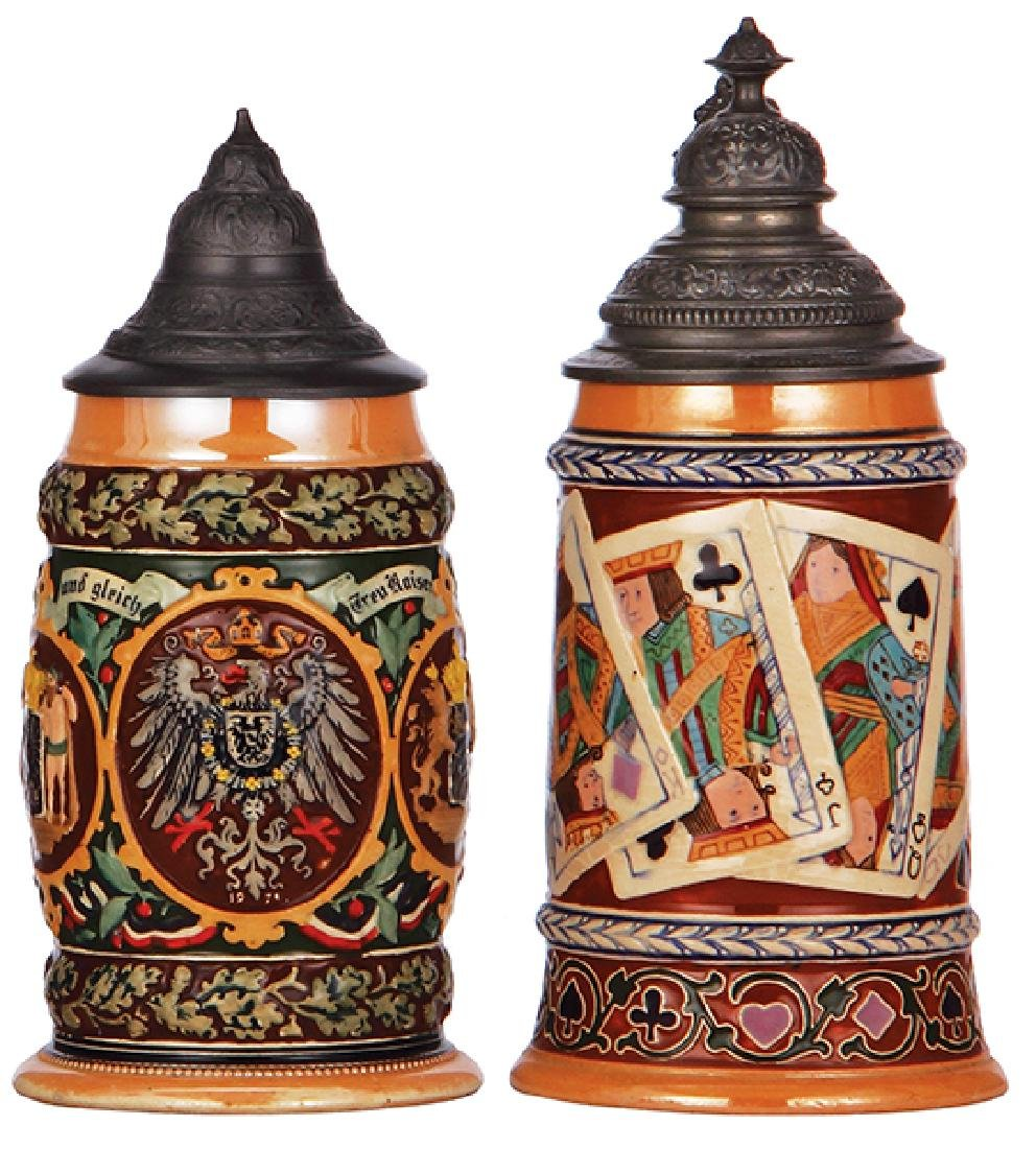 Two pottery steins