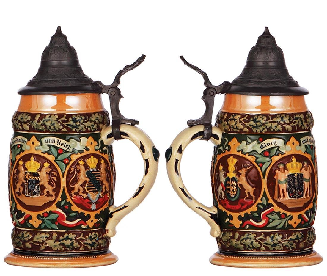Two pottery steins - 2