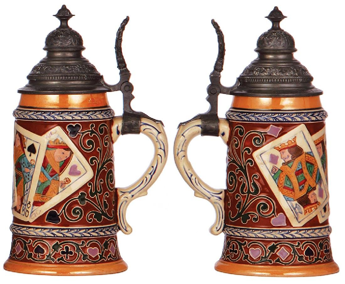 Two pottery steins - 3