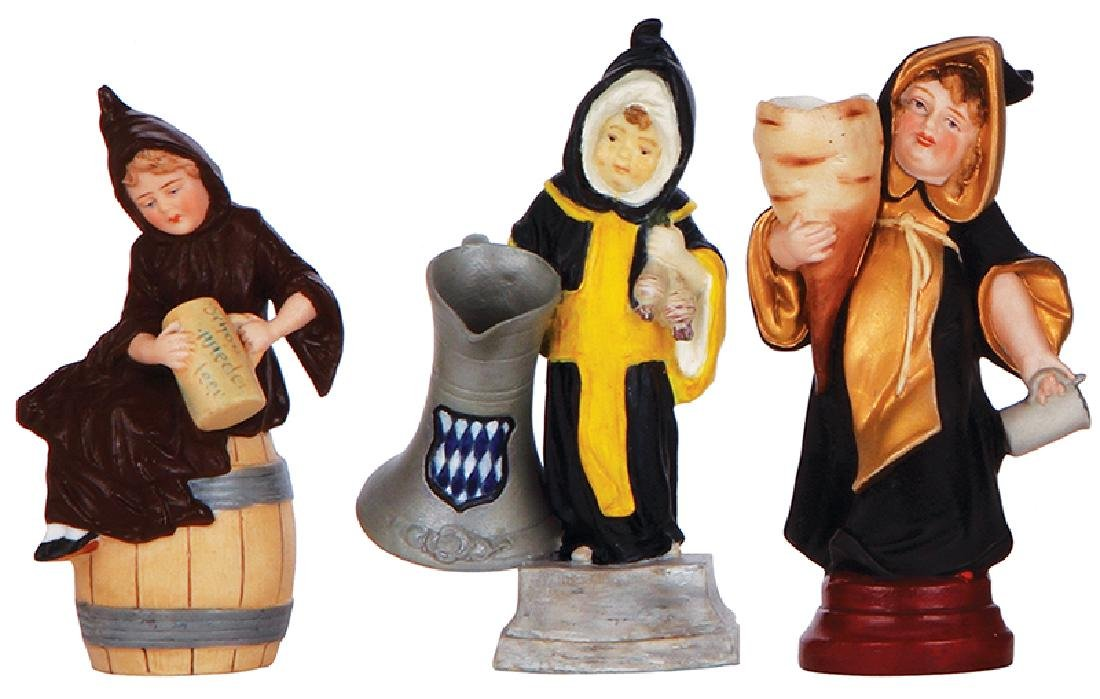 Three porcelain Munich Child figurines