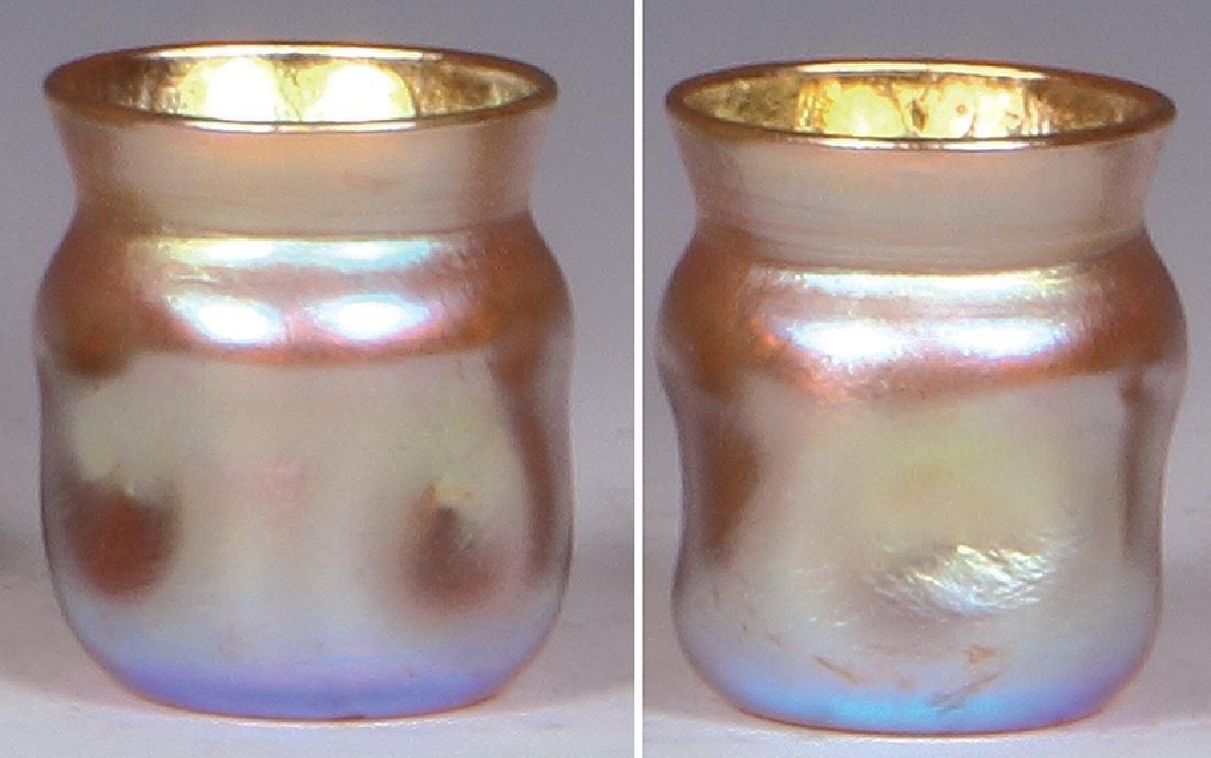 L. C. Tiffany Favrile gold shot glass cordial - 2