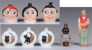 Halloween & black child glass perfume bottles