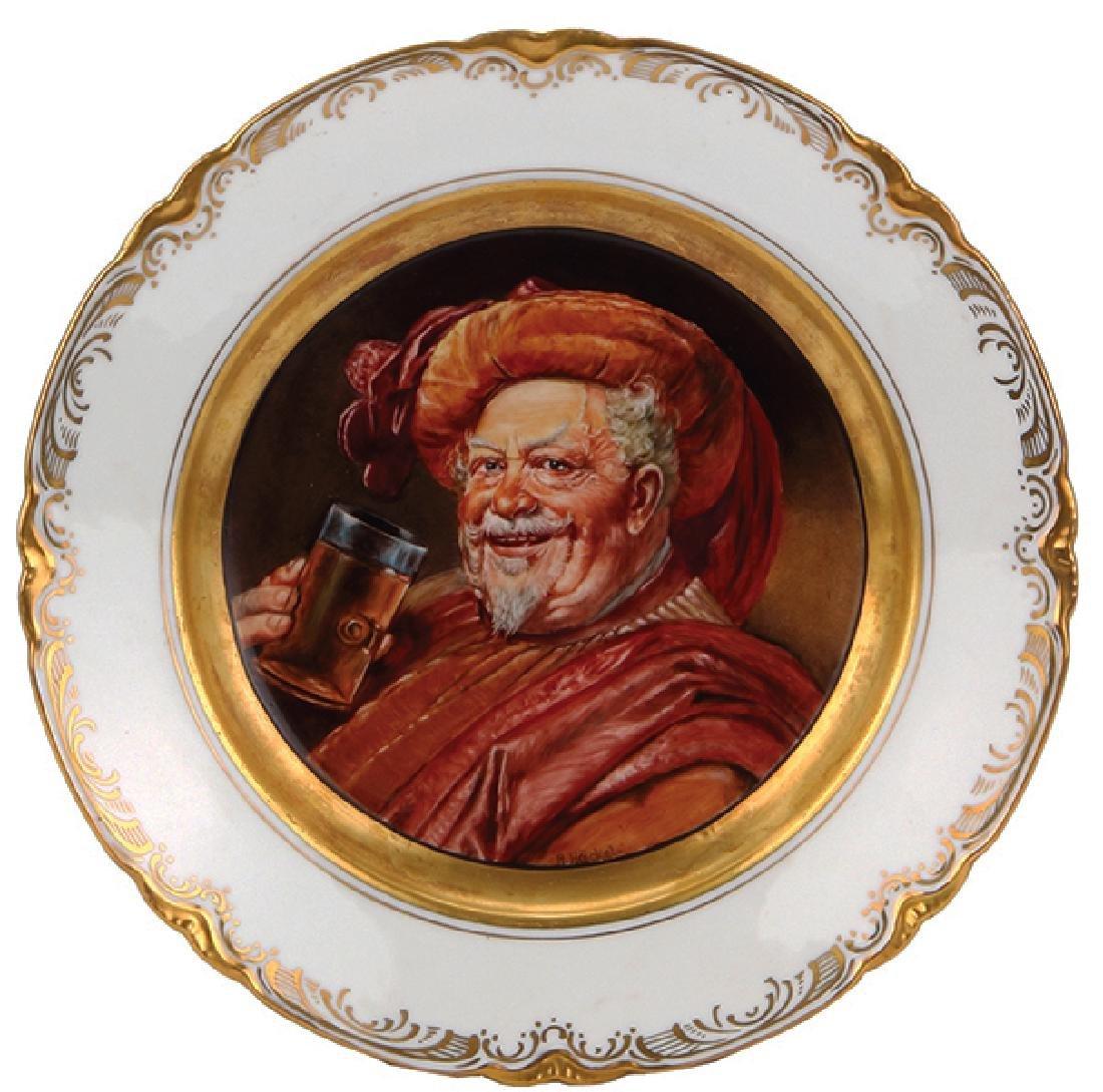 Porcelain plate, Royal Vienna type