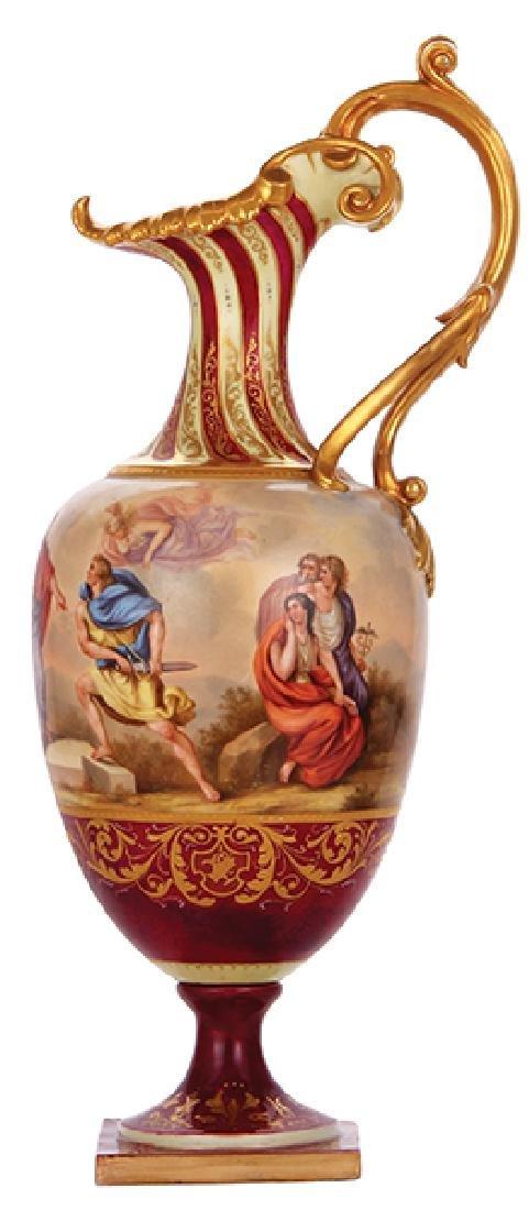 Royal Vienna porcelain pitcher, Zorn des Achilles