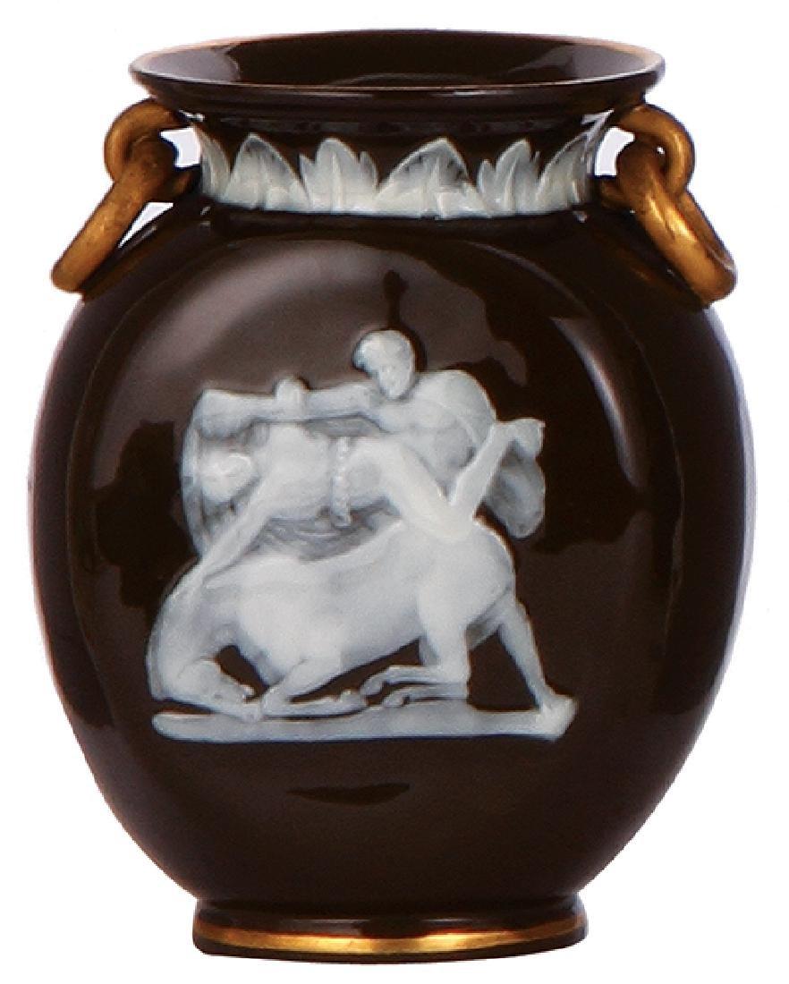 Minton porcelain vase, pâte-sur-pâte - 2