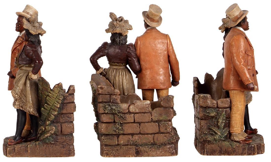 Terra cotta figurine Black Couple man & woman - 2