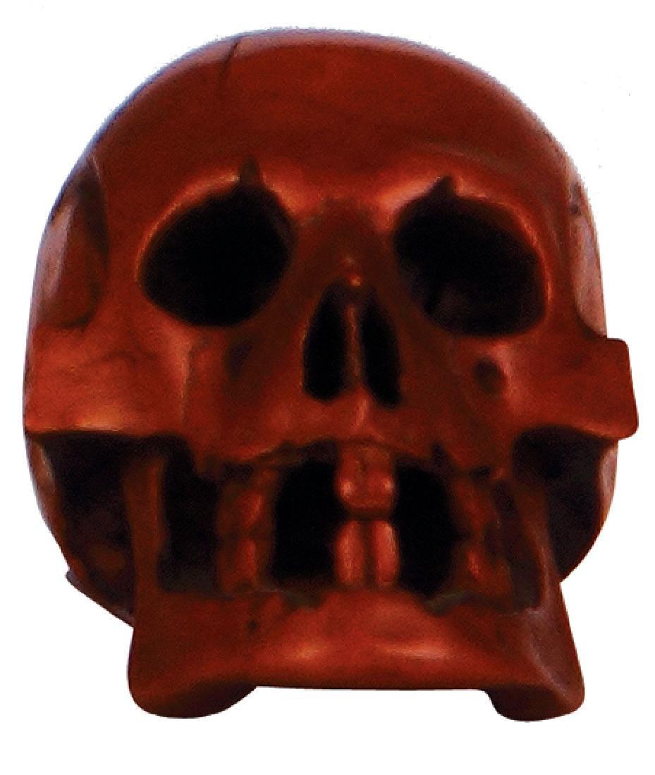 Wood character figurine Skull