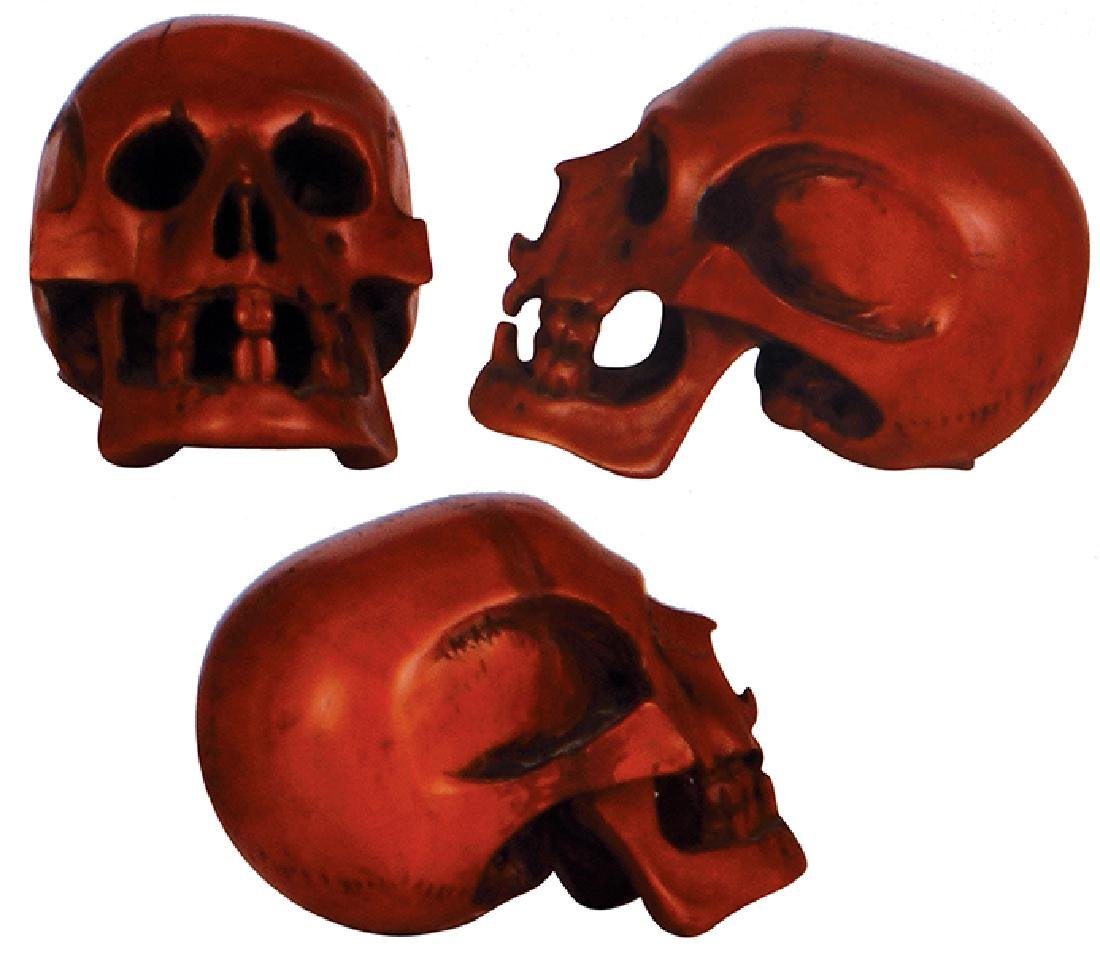 Wood character figurine Skull - 2