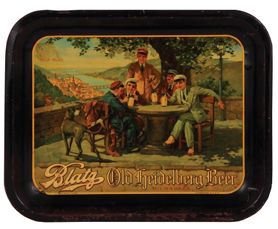 Advertising tray Blatz Old Heidelberg
