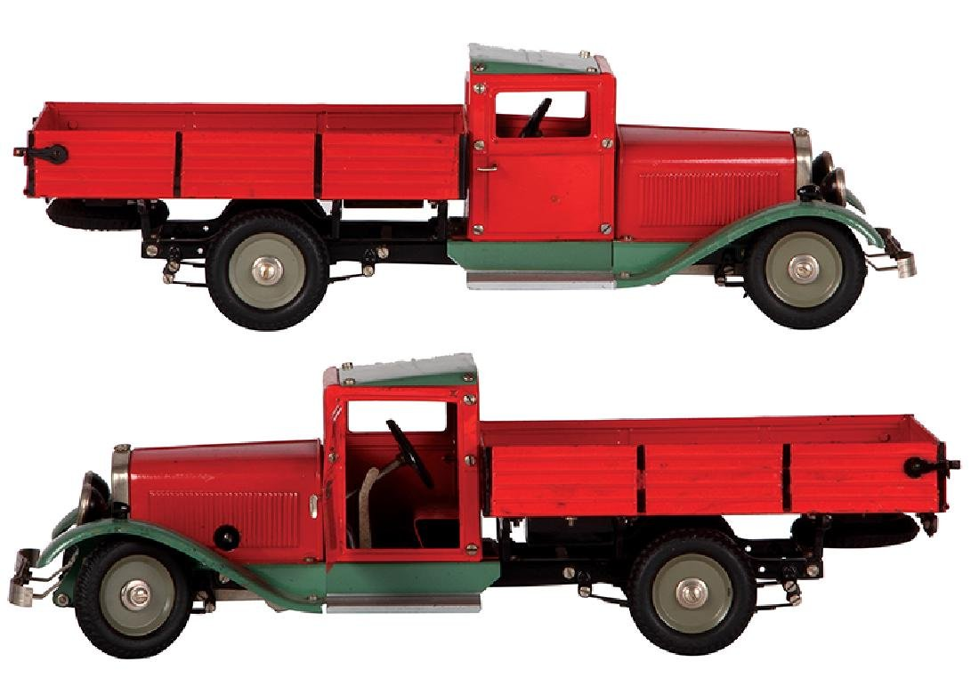 Marklin red wind-up delivery pickup truck - 2