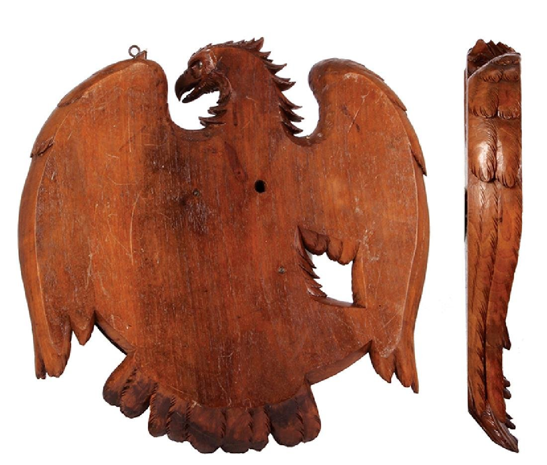 Black Forest wood carved eagle mirror - 2