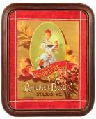 Budweiser Anheuser-Busch lithograph on board