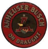 Anheuser-Busch lithograph on metal