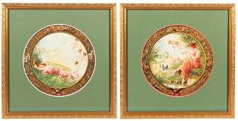 Two 1904 AnheuserBusch Art Plaques lithographs