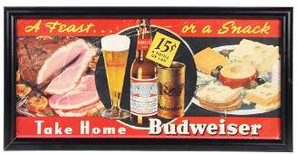 Anheuser-Busch lithograph on board