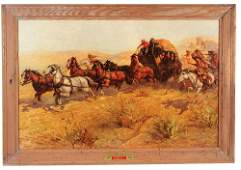 Anheuser-Busch lithograph on paper