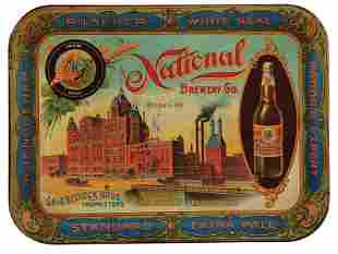 National Brewing Co., St. Louis, advertising tray