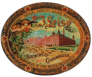 The I. Leisy Brewing Co., advertising tray