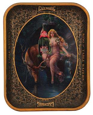 Clysmic King of Table Waters advertising tray