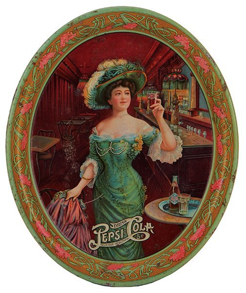 Drink Pepsi Cola advertising tray
