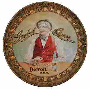 Goebel Beer, Detroit, U.S.A. advertising tray