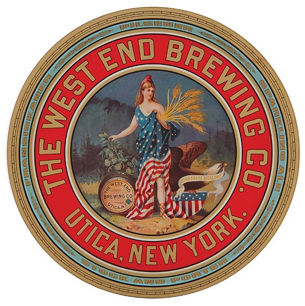 The West End Brewing Co. advertising tray