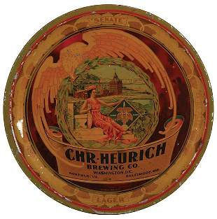 Chr. Heurich Brewing Co., advertising tray