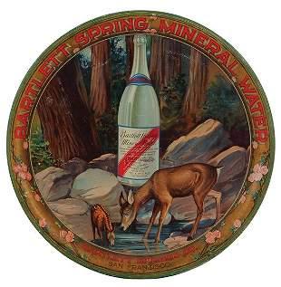 Bartlett Spring Mineral Water advertising tray