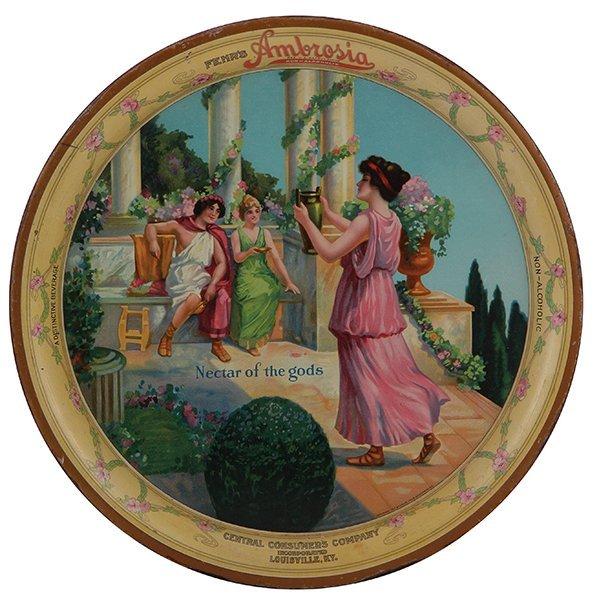Fehr's Ambrosia Non Alcoholic advertising tray
